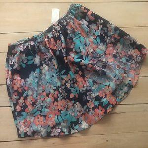 LC Lauren Conrad Floral Watercolor Skirt NWT!